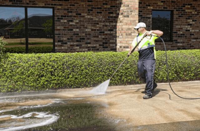 commercial concrete cleaning in fayetteville