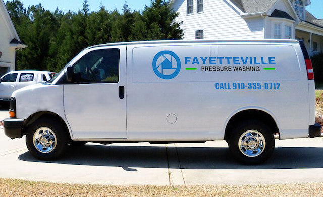 fayetteville pressure washing van